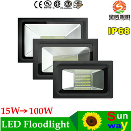 Wholesale Thin Led Lighting Floods - LED Reflector 220V 110V LED Flood Light 15W 30W 60W 100W 150W 200W Led Floodlight Garden Spotlight Outdoor Wall Lamp Thin