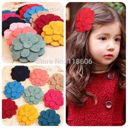 Wholesale Wool Felt Blend Wholesale - 300pcs lot Wool Felt Fabric Flowers - Fringe Flower Trios