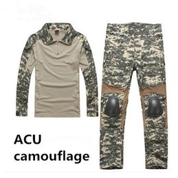 Wholesale Paintball Padded - Men's Military Army Tactical Airsoft Combat Uniform Paintball Hunting SWAT Wear Sets Gen2 Shirt & Elbow Pad Pants & Knee Pads