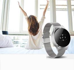 Wholesale Blood Metal - A68 Metal Intelligent Watch Heart rate Blood pressure Blood oxygen Movement Wearable Smart watch Step Bluetooth Smart watches Bracelet