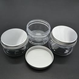 Wholesale Pet Food Containers - 20pcs lot 100g Aluminum Cap PET Plastic Cream Jars Empty Cosmetic Food Packaging Container SPB122
