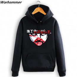 Wholesale Womens Thick Hoodies - My Chemical Romance Mens Rock Band Hoodies Sweatshirt Womens MCR Thick Tracksuit Sweatshirts Winter Hooded HipHop Fleece Cotton Outwear Coat