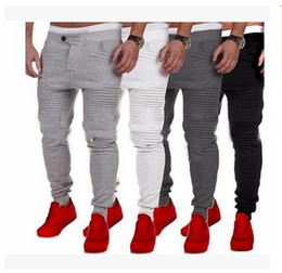 Wholesale Organic Fitness - Manufacturers selling 2018 explosion models of men's casual pants slim fitness pants color stripe mosaic design stovepipe
