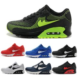 Wholesale Cheap Round Buttons - 2017 running Shoes Air Cushion 90 KPU Men Women High Quality Sneakers Cheap All black Sports Shoes Free Shipping Size 36-45