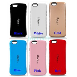 Wholesale Iface Iphone5 - For Iphone5 6 6plus Samsung s6 s7 iFace cases 2 in 1 TPU+PC hybird iFace cell phone case iFace small waist case cover with retail package