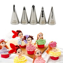 Wholesale Russian Skirts - Wedding Cake Decorating Icing Stainless Steel Russian Nozzles Pastry Bobbi Skirt Cake Nozzles Decoration Piping Tips Set