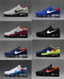 Wholesale Walker Leather Shoe - New Arrival Vapormaxes Plyknit Men Green Trainers Tennis Vapor Maxes 2018 Shoe Man Homme Kpu Boy First Walkers shoes