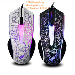 Wholesale 4d Mouse - Gaming Mouse 2400 DPI 4D Optical USB Wired Professional Gaming Mouse Programmable 4 Buttons RGB Breathing LED Mice Wholesale Mice 5pcs lot