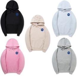 Wholesale Thick Pink Hoodie - NASA Hip-hop skateboard Hoodie Warm hoodie Sweatshirts Sweats Tops Pullovers The Martian Matt Damon Long Sleeve Sweater hooded NEW fashion