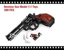 Wholesale Cheap Plastic Bricks - Cross Fire*Revolver Gun Model 1:1 Toys Building Blocks Set Educational DIY Assembly Bricks Toy**P22511*300pcs set Blocks Cheap Blocks