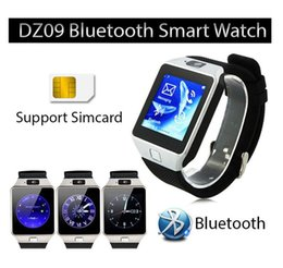 Wholesale Gsm Watch Mobile Phone - DZ09 Bluetooth Smart Watch GSM SIM Camera for iPhone Samsung Android Phone Intelligent mobile phone watch can record the sleep state Smart