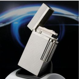 Wholesale Bullet Sound - Grey Gold Silver Bullet Memorial S.T. Lighter Metal Du pont Lighters Cigarette Gas Bright Sound