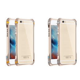 Wholesale Iphone5 Case Metal - Iron man Luxury Metal Frame border for iphone5 5s for iphone 6 6s transformers protection shell three drop resistance 50pcs DHL free