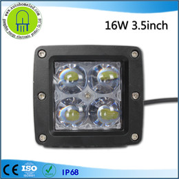 Wholesale Led Off Road Light Square - 3.5inch 16w Cree Square LED Spot Light for Off Road Led work light Bar 6000k