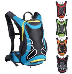 Wholesale Soccer Football Net - Riding Bicycle Bags 15L Shoulder Backpack Outdoor Fashion Bags with Helmet Net Bag Waterproof Travel Mountaineering Hydration out071