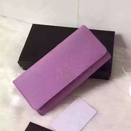 Wholesale Yellow Wallets For Women - fashion European and American style high quality real leather brand wallet for women drop shipping