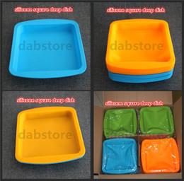 2019 scatola pieghevole di quadrato del tessuto vendita all'ingrosso antiaderente, resistente, temperatura resist silicone vassoio piatto di frutta torta vassoio 100% food grade vassoio in silicone piatto profondo