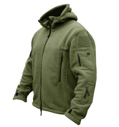 Wholesale Double Zipper Coat - Fashion TAD Outdoors Jacket Tactical Soft Shell Fleece Hoody Jacket Men Sportswear Thermal Hoodies Jacket men Sport coat army