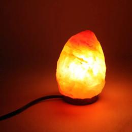 оптовая продажа соляных ламп Скидка Оптовая бесплатная доставка LED Кристалл гималайские стены соль свет лампы природные соль рок воздух очиститель ночь настольная лампа (1-2 кг) теплые ночные огни