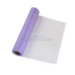 Wholesale sheer table runners - 25M x 29CM Lavender Organza Roll Soft Sheer DIY Fabric wedding decoration event party supplies Table Runner Chair Sash Bow