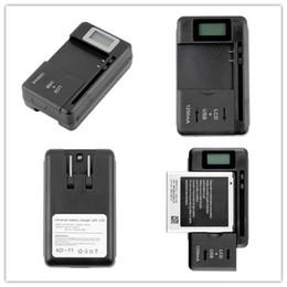Celulares pantalla lcd online-Cargador de batería universal móvil Pantalla de indicador LCD para teléfonos celulares Puerto USB
