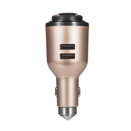 Wholesale Emergency Hammer For Car - Hot IVLWE 3 in 1 Dual USB Smart Car Charger Wireless Bluetooth 4.1 Earphone Headset Emergency Safe Hammer Built-in Mic for iPhone