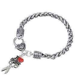Deutschland Freies Verschiffen i-Liebe zum Haar rotes Kristallscherenherz-Charme-Hummer-Haken-Armband für Frauen supplier crystal red heart charms Versorgung
