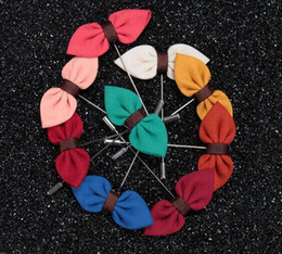 Wholesale Silk Suits China - New Brand Fabric Bowknot Long Style Silk Chiffon Brooch Fashion Men's Suits Decoration Brooches Pins Jewelry Accessories