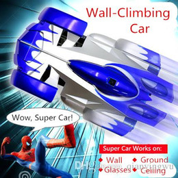 Wholesale Toys Climb Walls - 2015 hot sale wall climbing car wireless remote control car glass walls climbing Electric toy car with flashing light A013050