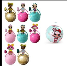 Wholesale Funny Bodies - LOL Surprise Dolls Sit Full Body Lovely Baby Dolls spray kids gift Charm Fizz Ball Dress UpToys Collectible Series Funny Eggs KKA2833