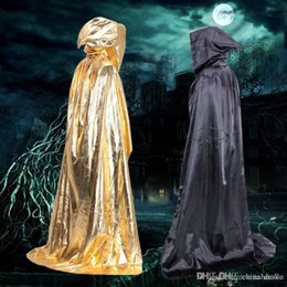 free vampire movie NZ - Sorcerer Cloak Halloween Costume Prop Vampire Death Clothing Devil Cape Castle horror Cloak Free DHL FedEx