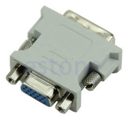 Wholesale 15 pin vga cable female - Wholesale- High Quality VGA 15 Pin PC Laptop Female 24+1 pin to DVI-D Male Adapter Converter LCD Lowest Wholesale Limited Sale
