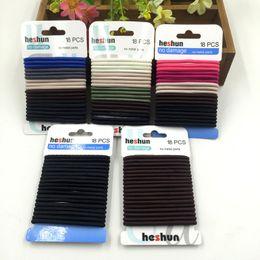 Wholesale Colorful Hair Elastic - Colorful and Black Seamle Hair Ties Simple Style Elastic Holder Headbands Elestic hairbands hair accessories wholesale