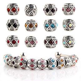 Wholesale Wholesale Bracelets Suppliers - 925 Silver Charm European Charms Zircon Crystals Bead Fit Pandora Snake Chain Bracelets Fashion DIY Jewelry Pandora Beads Suppliers