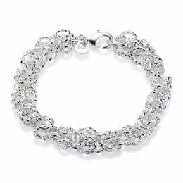 Wholesale Matt Chain - Wholesale Price 925 Sterling Silver Faceted Matt Design Link Chain Bracelet