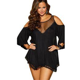 Wholesale Women Erotic Nightwear - Wholesale- Sexy Big Size Nightwear Plus Size Women Sexy Lingerie Hot Large Code Sexy Underwear Princess High-grade Erotic Lingerie