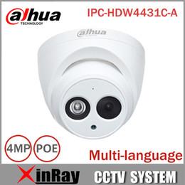 Wholesale Dahua Mini Dome - DaHua IP Camera IPC-HDW4431C-A POE Network Mini Dome Camera With Built-in Micro Full HD 1080P 4MP CCTV Camera