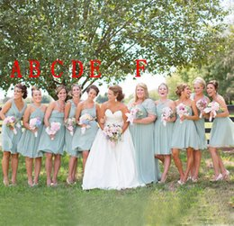 Wholesale Bridesmaid Dresses Different Necklines - 2016 Modest Country Bridesmaids Dresses Custom Mix Different Neckline Stunning Plus Size A Line Chiffon Maid of Honor Dress Fast Shipping