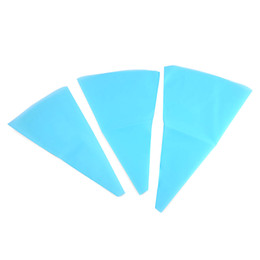 Wholesale Pipe Tools Supply - Wholesale- New Arrival 3 Sizes Silicone Reusable Icing Piping Cream Pastry Bag DIY Cake Decorating Tool Kitchen Cakes Supplies