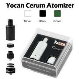 Batería de repuesto online-100% original Yocan Cerum Atomizador Cerámica completa Vaporizador repuesto Cuarzo Dual QDC Coil Fit 1100 mAh Yocan Evolve Plus batería Envío rápido