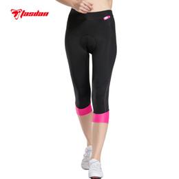 Wholesale Gel 3d Padded Coolmax - Tasdan 2016 Women Cycling Clothing Custom Cycling Wear Cycling Tights 3 4 Pants Bicycle Gel 3D Coolmax Padded Bike Short Pants