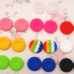 Wholesale ps2 stick - New Rubber Silicone Cap Thumbstick Thumb Stick Analog X Cover Case Skin Joystick Grip Grips For PS4 PS3 PS2 XBOX 360 ONE Controller