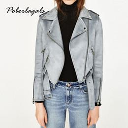 Wholesale Womens Jackets Leather - Wholesale- Spring Summer 2017 New high quality women Fashion New suede leather jacket short Slim basic Jacket coats female Jackets Womens
