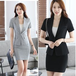 Wholesale Womens Business Skirts - Womens Summer Autumn Spring Work Wear Slim Fall Skirts Ladies Plus Size XXXXL Business  Formal Office Suits Dress DK831F