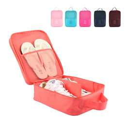 Wholesale Bras Travel Box - High Quality Storage Bags Breathable Mesh Pocket 3 Parry Storage Boxes Travel Shoes Bra Underwear Organizer Hanging Bags Travel Kit 4 colors