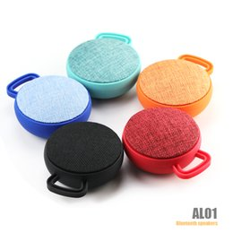 Wholesale Mini Speaker Mobile - AL01 Elliptical Wireless Speaker Bluetooth 4.0 Mini Portable Subwoofer Handsfree Stereo Hifi Bass Speakers TF Card Phone Answer With Mic