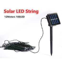 Wholesale Solar Led Lamp 12m - 100LED 12m Waterproof Decorative Copper Globe LED Solar Lamps Led String Lights Outdoor Garden Patio Lantern Street Lawn Light