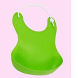 Wholesale Disposables Bibs - Wholesale- Hot sale Updated New Baby Silicone Bib Stereo Disposable Bib Kids Bibs Children Pick Rice Pocket Cute Boy And Girls Bibs 4 Color