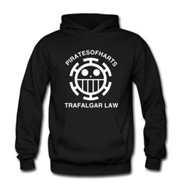 Wholesale One Piece Law Hot - Wholesale-Free Shipping Hot Anime One Piece Trafalgar D Water Law Hoody Law Ship Sign Pullover With Hood
