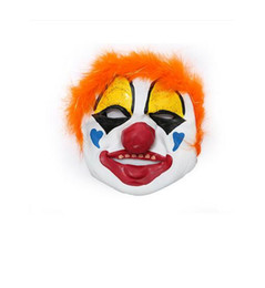Wholesale Masquerade Hair Accessories - 50pcs Adult Latex Clown Mask with Short Hair Party Decoration Supplies Halloween Masquerade Cosplay Stage Show Costume